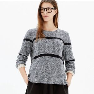 Madewell Patternstorm Pullover Cable Sweater